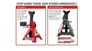 Harbor Freight recalls 1.7 million jack stands over collapse risk