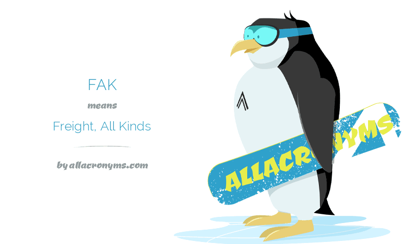 FAK – Freight, All Kinds
