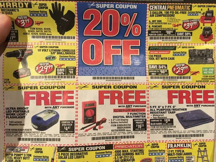 Best Harbor Freight Free Items