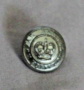 Rare Royal Barbados Police Military Button 1966 Caribbean British