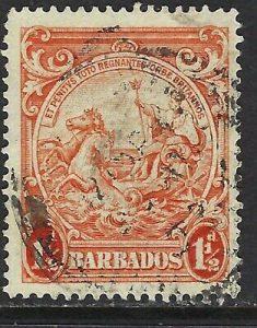 BARBADOS, SC# 168a (perf 14), F-VF USED, LOT 6-165