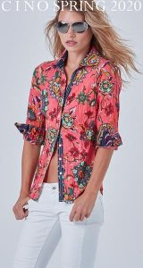 BARBADOS CORAL BUTTON DOWN SHIRT