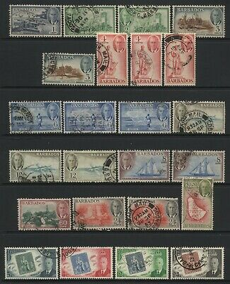 Barbados Collection 24 KGVI Stamps Used