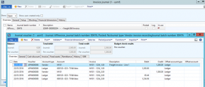 Transportation management freight invoices example in AX 2012 R3