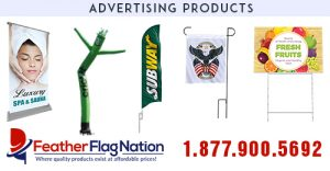 Affordable Custom Feather Flags, Banners & Tube Men | FREE SHIPPING