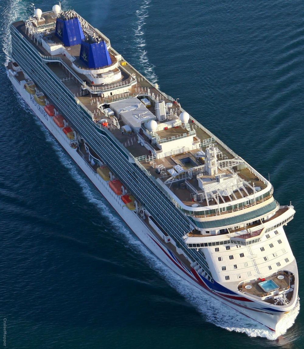 Britannia Itinerary, Current Position, Ship Review