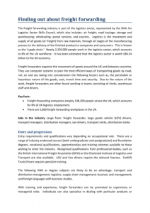 Skills for Logistics: Freight Forwarding
