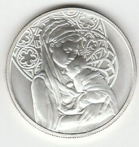 "1 Oz. Silver Round ""Peace"" From Silver Shield 2015"
