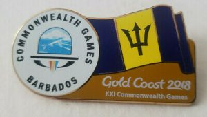Barbados Gold Coast 2018 Commonwealth Games Pin Pinback  Australia Caribbean