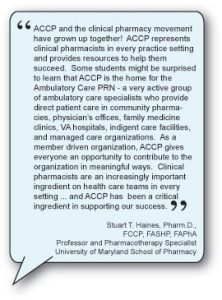 ACCP – Definition of Clinical Pharmacy