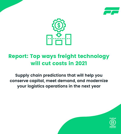 Report: Top ways freight technology will cut costs in 2021