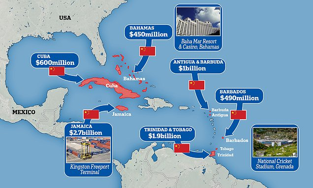 How China has poured billions into the Caribbean