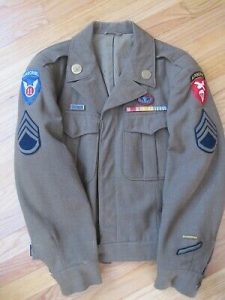 WW2 11th Airborne US Army Ike Jacket With Jump Wings & Oval