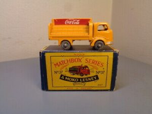 MATCHBOX MOKO LESNEY No 37A VINTAGE KARRIER BANTAM COCA COLA LORRY VG IN BOX