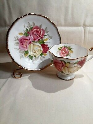 "Vintage Queen Anne Cup And Saucer "" Lady Sylvia"" England Bone China"