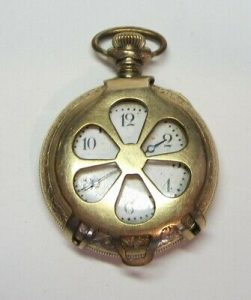 Old Signed NEW ENGLAND CAVOUR Gold Filled Pocket Watch  *AS FOUND*