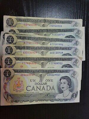 🇨🇦 Canada 1 dollar 1973 P-85a Lawson / Bouey   Banknote   060321-3