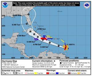 First Atlantic Hurricane of 2021 Threatens Caribbean